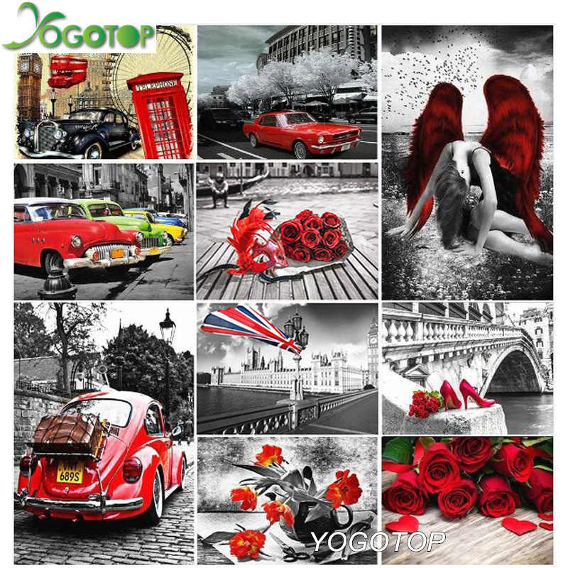 YOGOTOP 5d DIY Diamond Painting Europe city Landscape Full Embroidery Sale Rhinestone 5D Mosaic Roses,cars,London castle YY843