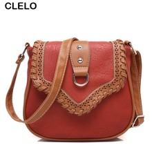 CLELO new fashion women pu messenger bags Soft mini flap Hollow Out Shoulder Bags For Women National Wind Female Crossbody Bags