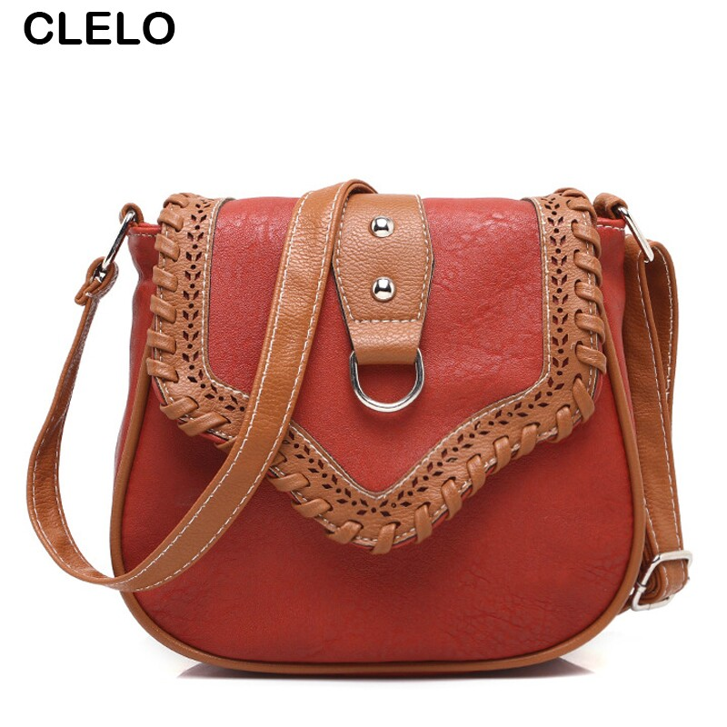 CLELO nueva moda mujeres pu bolsas de mensajero suave mini solapa - Bolsos - foto 1