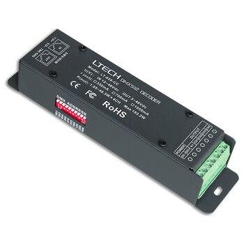 Nouveau décodeur DMX LED LTECH 4CH décodeur CC DMX à courant Constant DC12-48V en 3 en 1 4CH 350mA/700mA/1050mA sortie RJ45