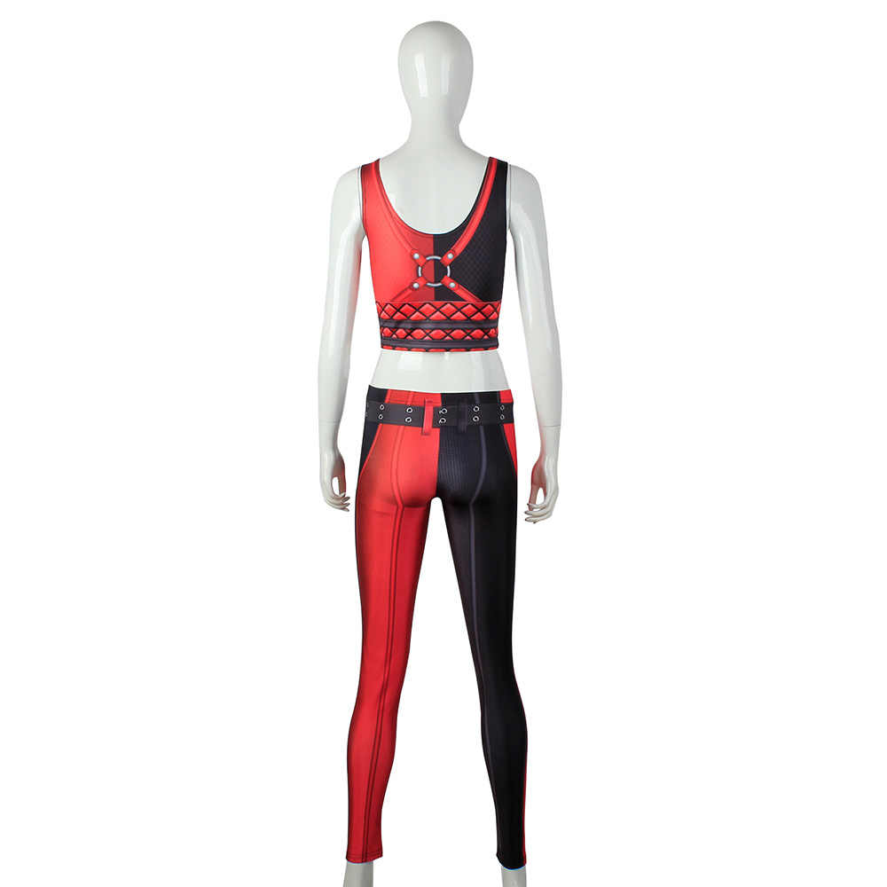 40fc22c90c8ec ... NEW 1644 Sexy Girl Suicide Squad Harley Quinn Cosplay Prints Women Yoga  Leggings Crop Top Vest
