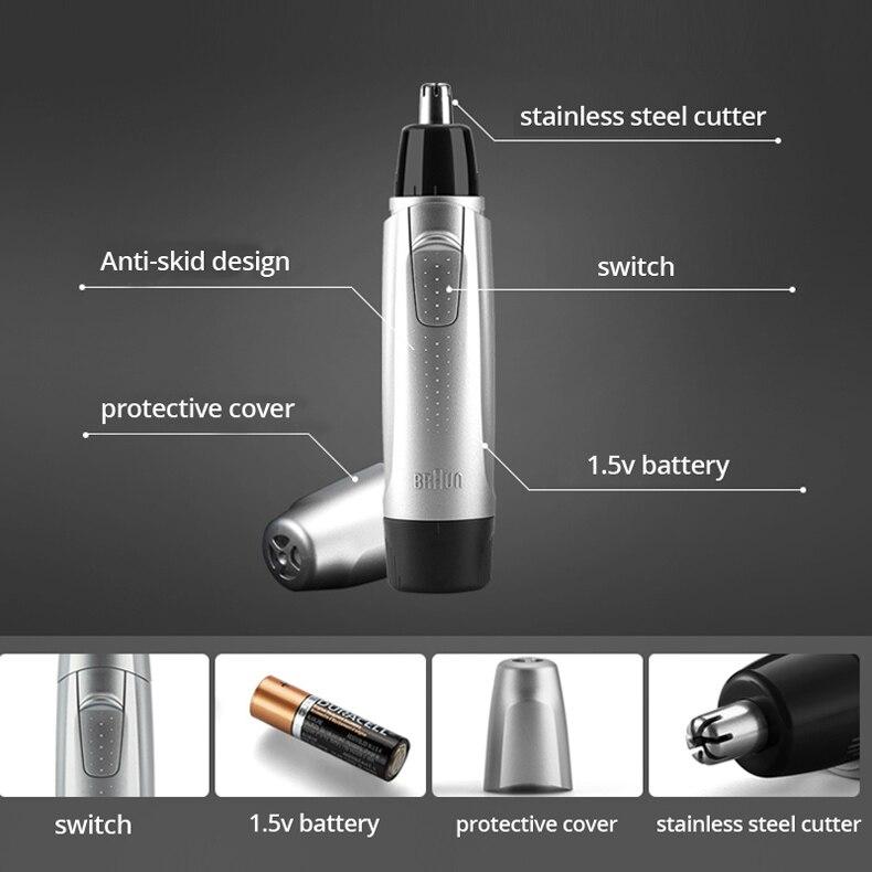 6a2b40e58eae Braun Exact series EN10 Ear   Nose Trimmer Power face Hair Clipper ...