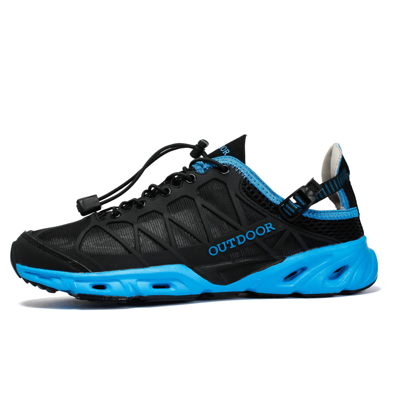 Outdoor Sport Upstream Aqua Shoes Slip On Air Mesh Men Fishing Swim Water Beach Shoes Cool Summer Hiking Travel Women Sneakers