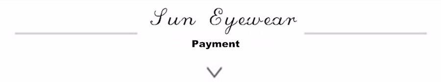 sun eyewear payment