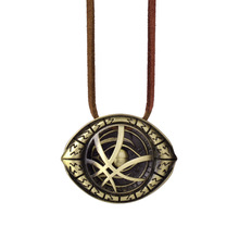 Newest Doctor Strange Necklace  Antique Bronze Pendant with Leather Cord Movie Cosplay Jewelry Necklace