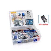 Arduino UNO r3을위한 가장 완벽한 Rfid 스타터 키트 튜토리얼 및 선물 ESP8266 Wifi 모듈로 업그레이드 된 버전 학습 제품군