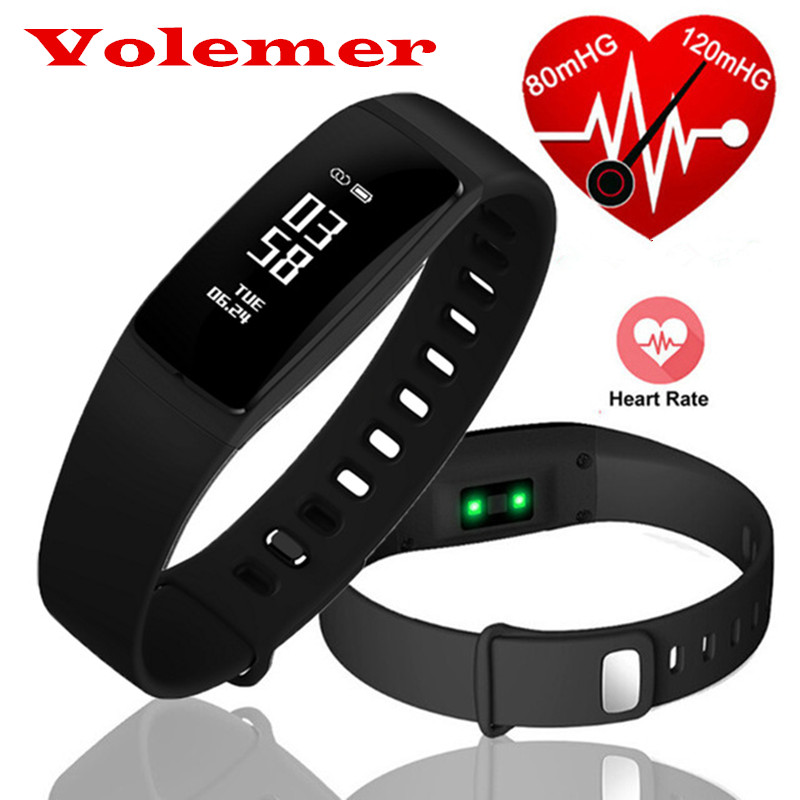 Volemer Newest V07s Smartband Blood Pressure Wireless Smart Bracelet Heart Rate Monitor Smart Wristbands for Android