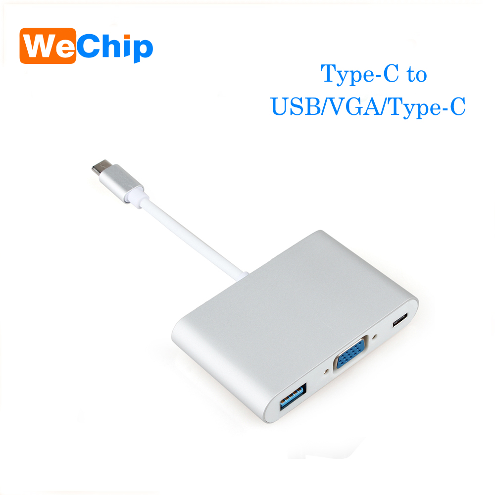 USB 3.1 Type C USB-C to VGA Female Adapter Cable  to type-C For New Macbook 12/ Pro /15/ Pro 13 for huawei mate 10 pro P20 pro