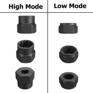 Image 3 - MTGATHER 10Pcs Damaged Bolt Nut Screw Remover Extractor Removal Set Nut Removal Socket Tool Black 9 19mm