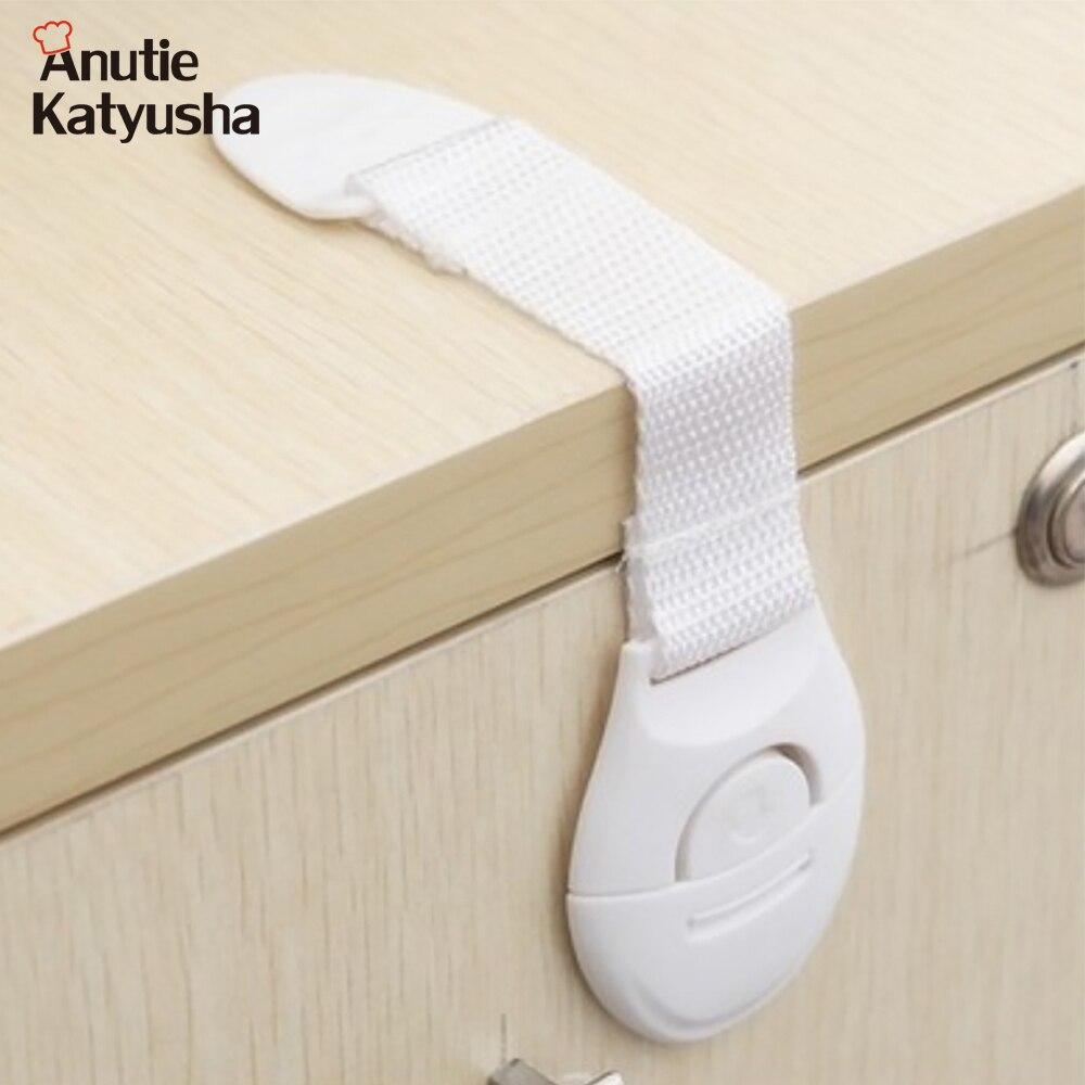 10Pcs/Lot Child Lock Kids Plastic Lock Protection Of Children Locking Doors For Children's Safety Furniture Accessories