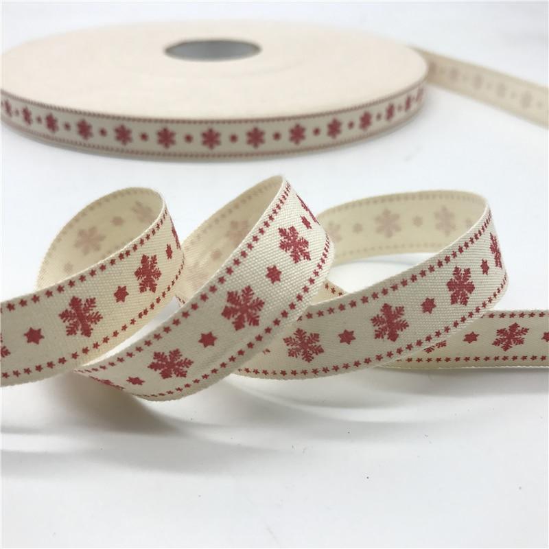 5 ярдов/лот 15 мм хлопчатобумажная лента ручной работы дизайн печатные хлопковые ленты для свадьбы Рождественское украшение DIY швейная ткань - Цвет: 22