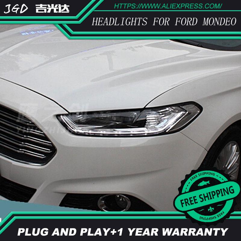 Spedizione gratuita! stile auto LED fari HID 2013-2015 LED Testa Della Lampada per Ford mondeo Bi-Xeno mondeo Lente anabbaglianti