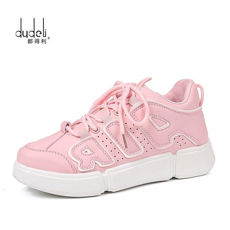 12f6aa13 Zapatos Papá Nueva rosado Blancos De blanco Deporte Mujer Otoño Casuales  Tenis Negro Moda Mujeres Para ...