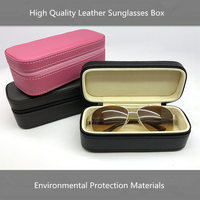 New Leather Sunglasses Case Women Glasses Protection Box Case Men's Big Model Fashion Glasses Gift Boxes