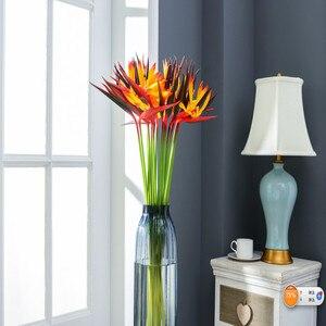 Имитация цветов птиц рая Свадебные растения с шелковыми цветами оптовая продажа бесплатная доставка