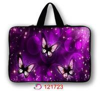 Purple Butterfly Neoprene 13 Computer Netbook Laptop Case Bag Sleeve W Handle Custom Design