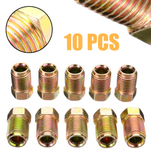 New Arrival 10Pcs/Set 10mm x 1mm Male Short Brake Pipe Screw Nuts For 3/16 Inch Metric Braking Tubes Bolts