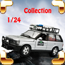 Christmas Gift RR Sports 1/24 Big Metal Model SUV Scale Vehicle Collection Toys Jeep Diecast Decoration Alloy Openable Metallic