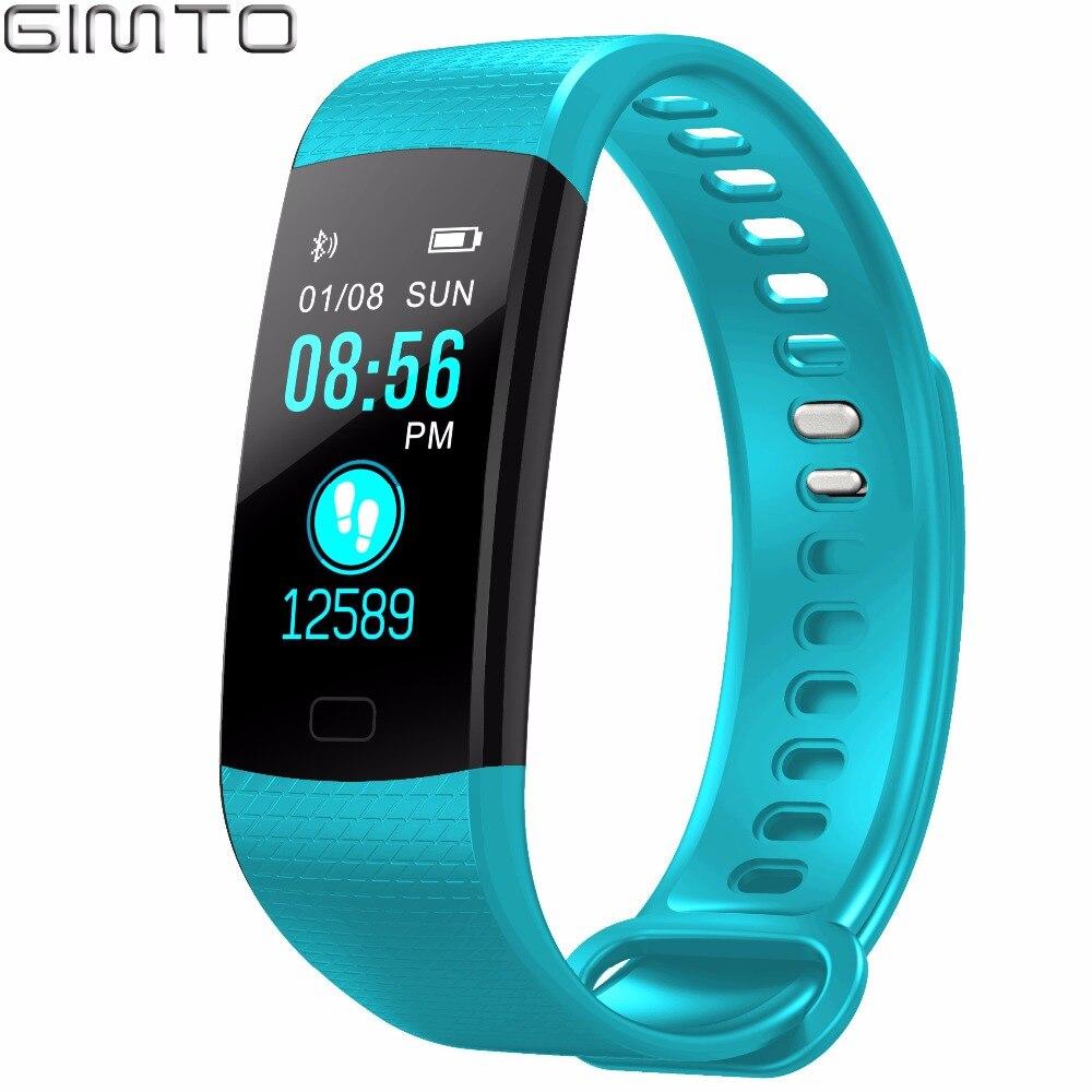 GIMTO Sport Bracelet Montre Femmes Hommes LED Étanche Intelligent Poignet Bande de fréquence Cardiaque Sang Pression Podomètre Horloge Pour Android iOS