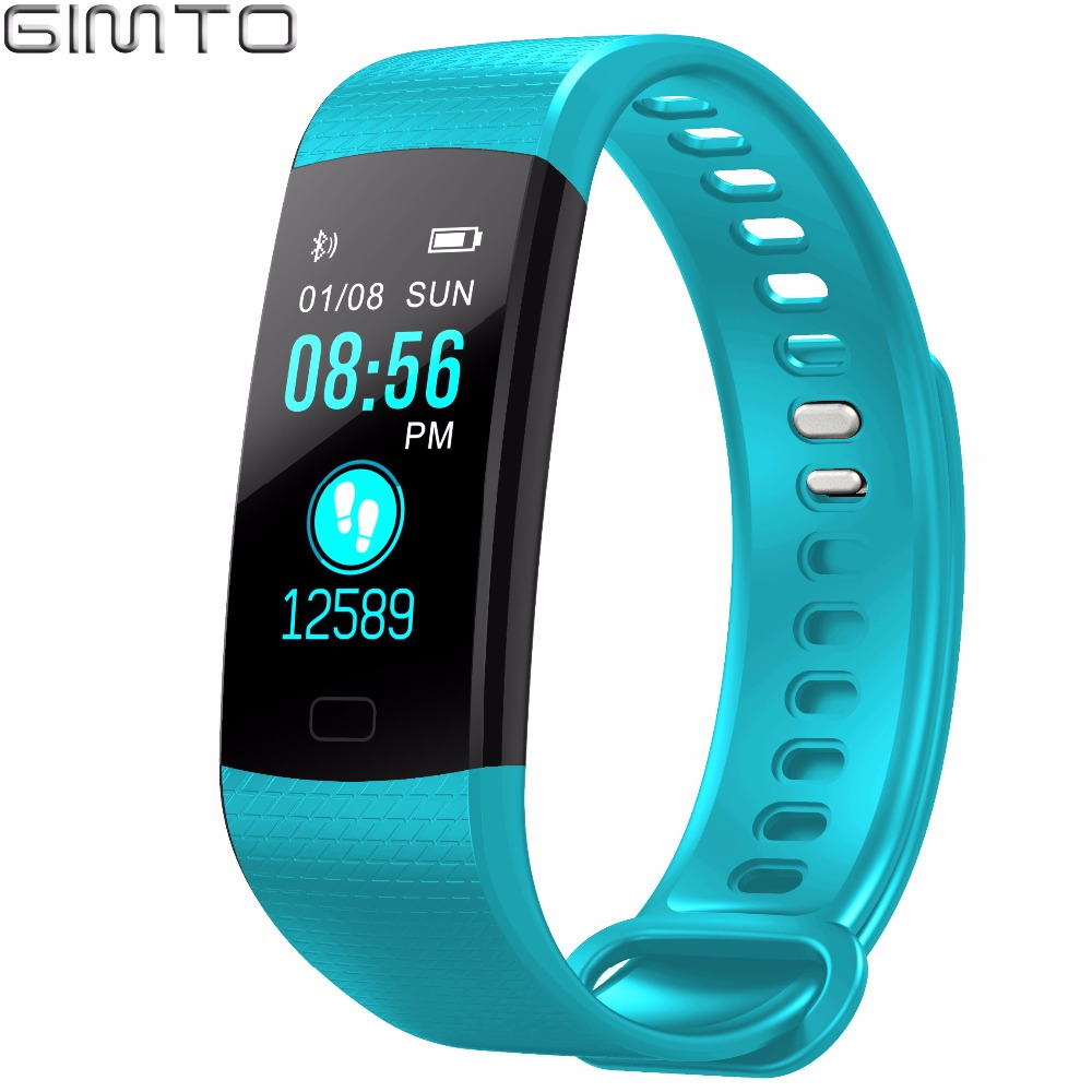 GIMTO Sport Bracelet Watch Women Men LED Waterproof Smart Wrist Band Heart rate Blood Pressure Pedometer Clock For Android iOS