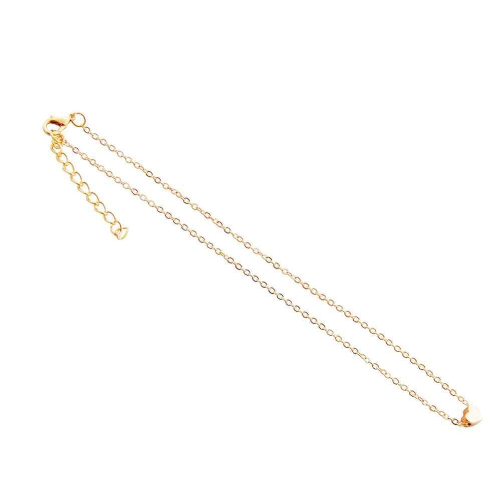 Collier ras du cou style bohémien pour femmes, chaîne, pendentif, Simple, lune, étoile, cœur, bijoux, cadeaux
