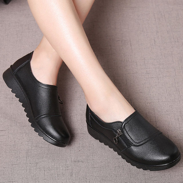 Women Flats Leather Shoes...