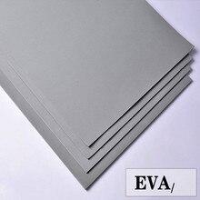 Hojas de espuma Eva de 50x200cm, color gris, láminas de goma eva para manualidades, hoja de perforación fácil de cortar, material de cosplay hecho a mano