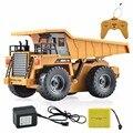 HuiNa Brinquedos 1540 Seis Canal 6CH 1/12 40HMZ RC Brinquedos de Controle Remoto Caminhão RTR Com O Carregamento Da Bateria de Metal