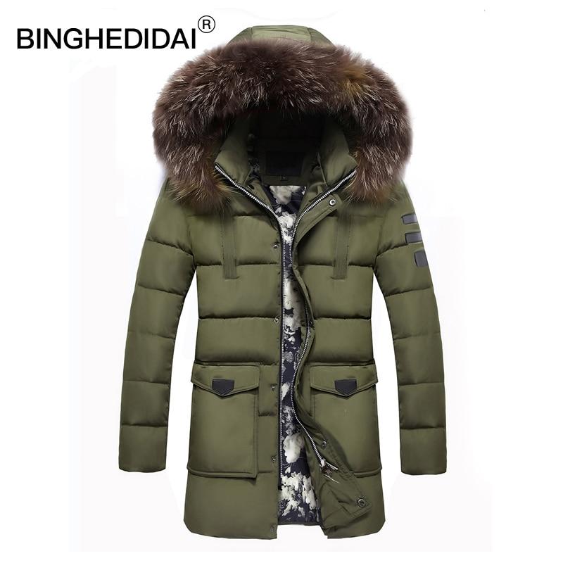 Winter long jacket thermal jacket mens fur hooded jacket long ...