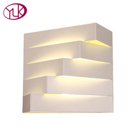 Youlaike Creative Design Modern LED Wall Lamp For Bedside White Iron Bathroom Wall Sconce Light Fixtures