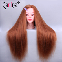 Professional 60cm Golden Hairdressing Dolls Head Women Mannequins Styling Training Mannequin With Stand Holder