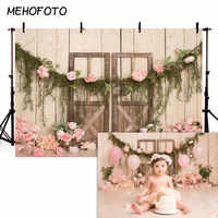 MEHOFOTO Newborn Baby Floral Photography Backdrops Floral Photographic Studio Photo Background Birthday Decorations Prop