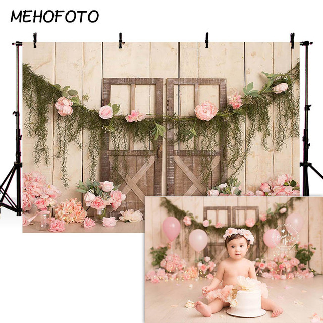 MEHOFOTO Newborn Baby Floral Photography Backdrops Flower Photographic Studio Photo Background Birthday Decorations Prop