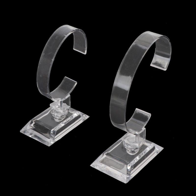 1 Pc Klar Acryl Armband Uhr Display Halter Stehen Rack Einzelhandel Shop Schaufenster Attraktive Mode