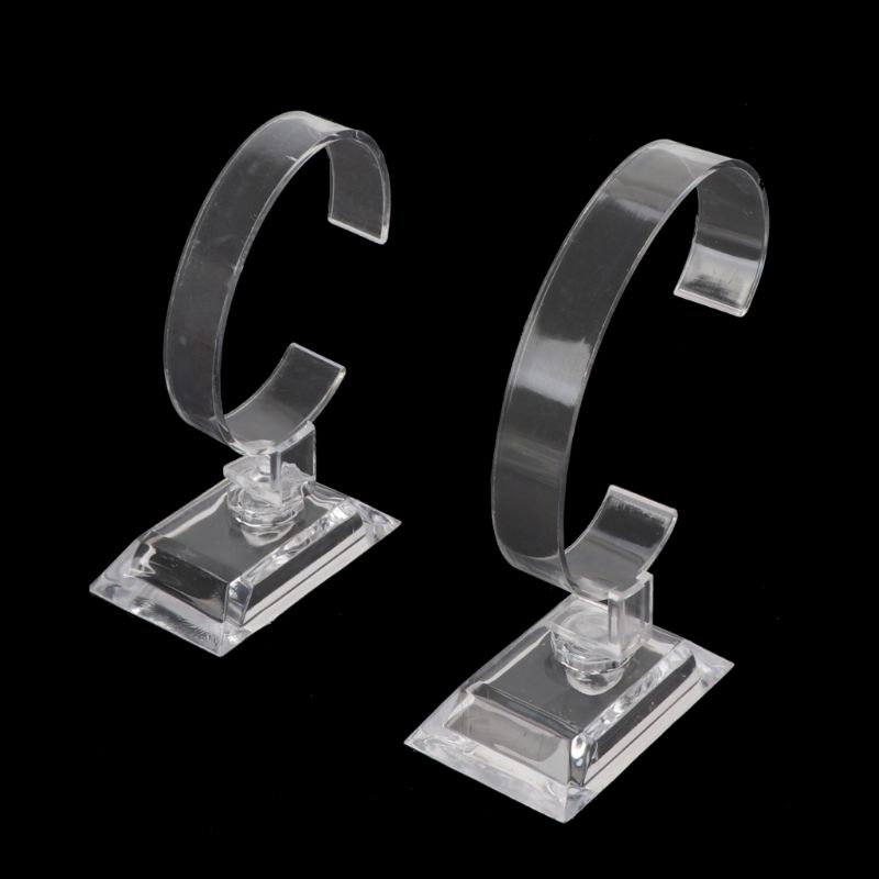 1Pc Clear Acrylic Bracelet Watch Display Holder Stand Rack Retail Shop Showcase