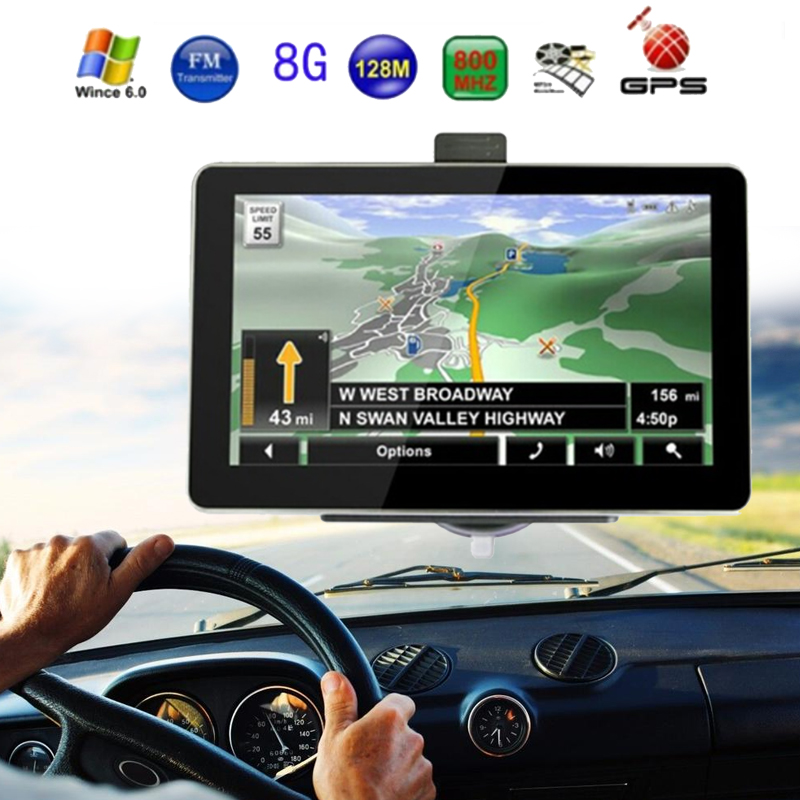 купить VEHEMO Car GPS Navigation Smart 7 Inch Capacitive Touch 800MHZ TFT LCD Built-In European Map E-Book Truck Navigator Car-Styling недорого
