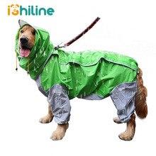 Дождевик для домашних питомцев, маленьких и больших собак, водонепроницаемая одежда для больших собак, комбинезон, дождевик, комбинезон с капюшоном, плащ, лабрадор, золотистый ретривер