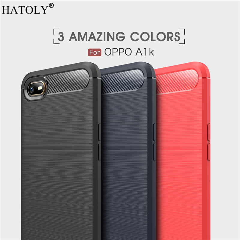 Cover OPPO A1k Case Business Style Soft Silicone Rubber Armor Shell TPU Phone Cover Case for OPPO A1k Case for OPPO A1k CPH1923