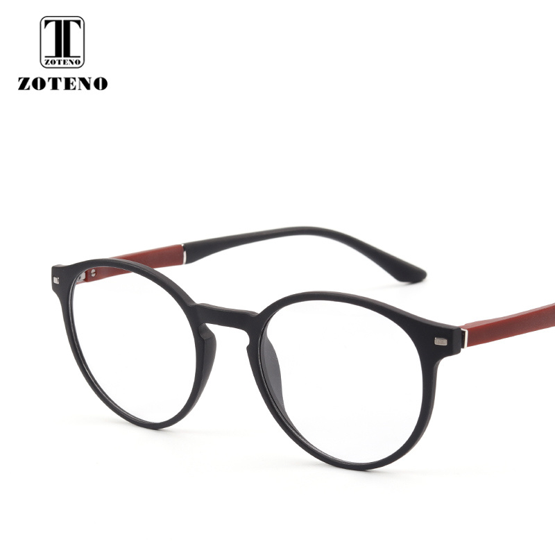 TR90 Women Round Glasses Frame Rivet Oliver Peoples Optical Prescription Computer Myopia Transparent glasses clear Men #88003