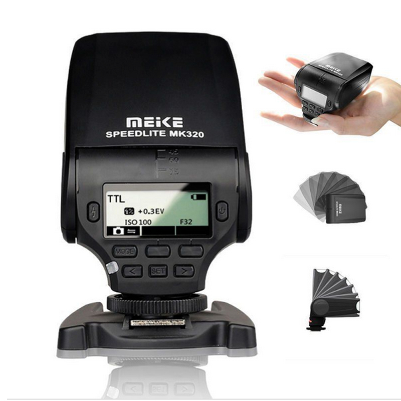 MEIKE MK-320 MK320 TTL flash Speedlite for Sony A7 A7R A7 II A7S A6000 A5000 NEX-5R NEX-T NEX mini flash light meike mk320 mk 320 mk320 c gn32 ettl speedlite for can 60d 7d 6d 70d dslr