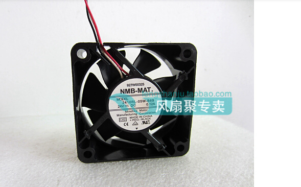 New original NMB 6CM 6025 24V 0.12A 2410RL-05W-B69 60*60*25MM dual ball fan cooling fan original delta afb0612vhc 6cm 60mm 6013 6 6 1 3cm 60 60 13mm 12v 0 36a dual ball bearing cooling fan specials