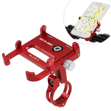 2018 New Aluminum Alloy Bicycle Phone Holder 360 Degree Rotatable Bike Stand Support for 3.5-6.2 Inch Mobile / GPS