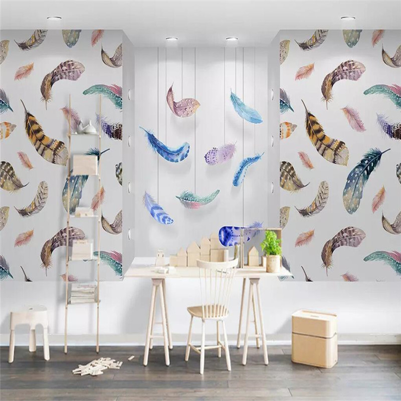Production, High-end, Photo, Fresh, Feather, Mural