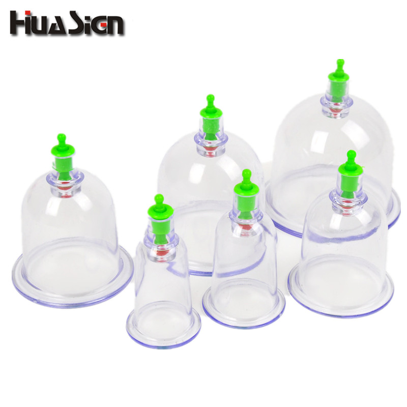 6 Pcs/set Vacuum Cups 6 Sizes Massage Cans High Quality Family Body Massage Cupping Helper Anti Cellulite Vacuum Cups 1pcs small family body massage helper anti cellulite vacuum silicone cupping cups health care tool pink color