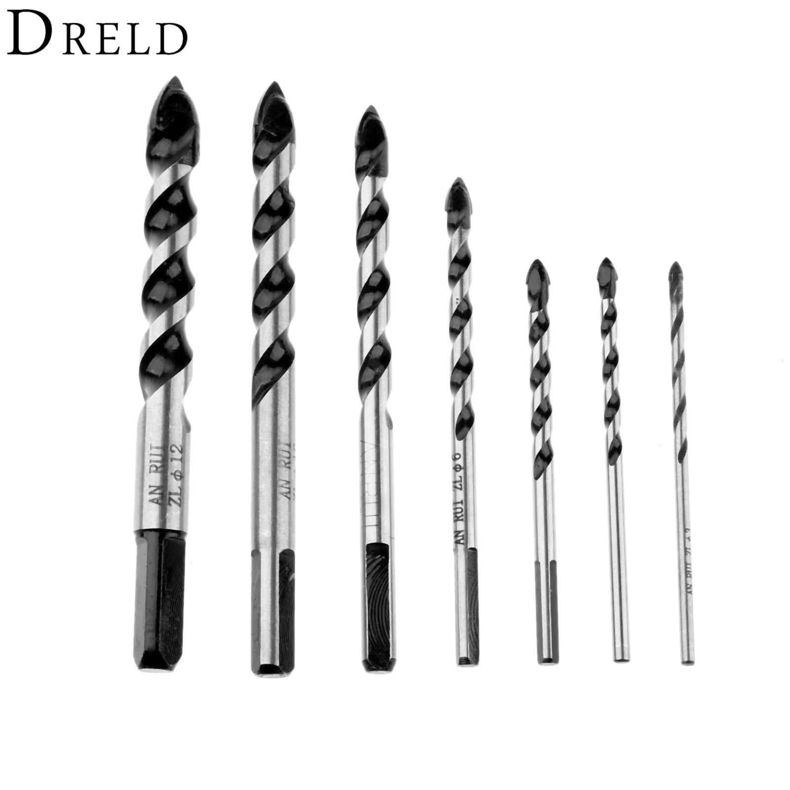 Dreld 1pc 3 12mm Ceramic Drill Bit Steel Alloy Ceramic Glass Porcelain Marble Granite Cutting