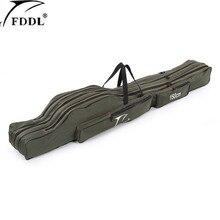 FDDL Portable multifonction sac de pêche transporteur toile 130/150CM canne à pêche sacs deux/trois couches mallette de rangement pour Pesca