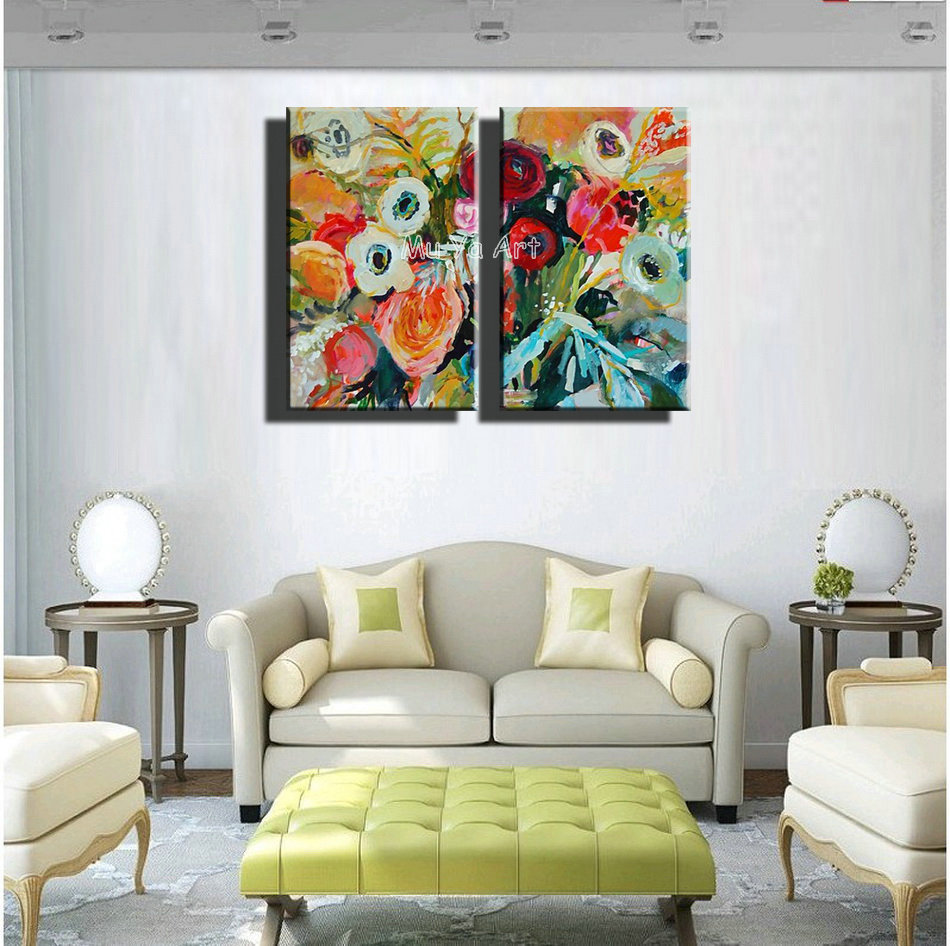 Aliexpresscom Buy 2 Panel Beautiful Wall Art Abstract Vintage .