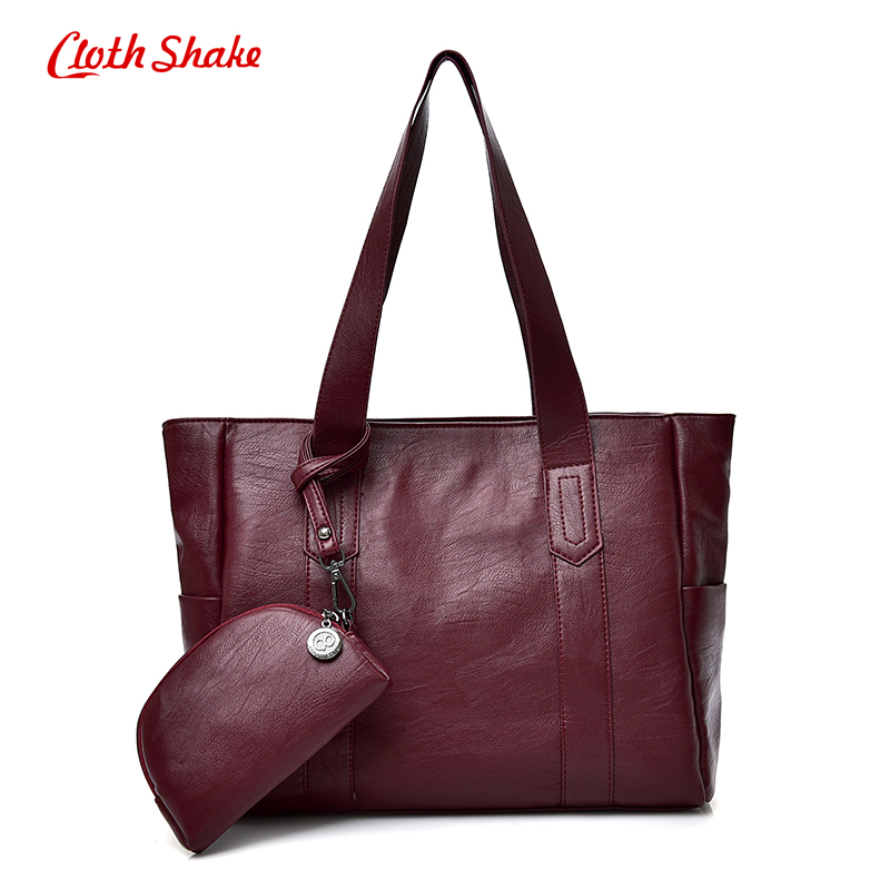 Cloth Shake Famous Brand Women Bag Top-Handle Bags Summer New Fashion Women Shoulder Bags Handbag Set PU Leather Composite Bag new 2016 top brand cloth school bags for
