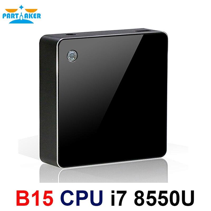 Participante 8550u 8th Geração de Processadores Intel Core i7 i7 Mini-pc Com Windows HDMI DP 10 HTPC Gráficos Max para 32 GB Ram 512 GB SSD