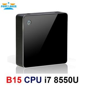 Image 1 - معالج انتل كور i7 من الجيل الثامن معالج i7 8550u كمبيوتر مصغر ويندوز 10 HDMI DP HTPC الرسومات ماكس إلى 32GB Ram 512GB SSD
